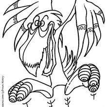 El monstruo pelicano - Dibujos para Colorear y Pintar - Dibujos infantiles para colorear - Monstruos para pintar