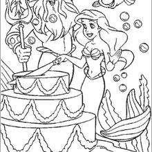 youtube ariel the little mermaid coloring pages   Dibujos para colorear el pastel - es.hellokids.com