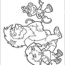 Dibujo para colorear : El león nuestro amigo