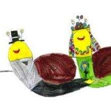 La boda de los caracoles - Dibujar Dibujos - Dibujos de NIÑOS - Dibujos de ANIMALES - Dibujos de  animales por ORDENADOR