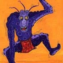 El monstruo - Dibujar Dibujos - Dibujos para RECORTAR - HALLOWEEN  dibujos para recortar