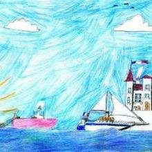 El puerto - Dibujar Dibujos - Dibujos de NIÑOS - Dibujos de la NATURALEZA