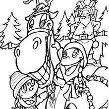 El reno de Navidad - Dibujos para Colorear y Pintar - Dibujos para colorear FIESTAS - Dibujos para colorear de NAVIDAD - Colorear dibujos RENOS NAVIDEÑOS