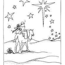 Dibujo para colorear Gaspar - Dibujos para Colorear y Pintar - Dibujos para colorear FIESTAS - Dibujos para colorear de NAVIDAD - Dibujos para colorear de los REYES MAGOS de Navidad - Colorear GASPAR