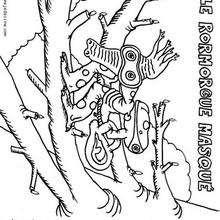 Monstruo hipocampo - Dibujos para Colorear y Pintar - Dibujos infantiles para colorear - Monstruos para pintar
