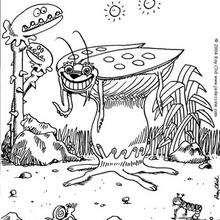 Monstruo cucaracha - Dibujos para Colorear y Pintar - Dibujos infantiles para colorear - Monstruos para pintar