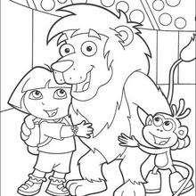 Los tres amigos - Dibujos para Colorear y Pintar - Dibujos para colorear PERSONAJES - PERSONAJES TV para colorear - Dora y sus amigos para colorear