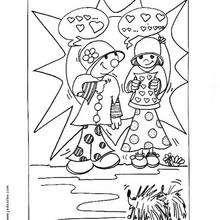La amistad - Dibujos para Colorear y Pintar - Dibujos para colorear FIESTAS - Dibujos para colorear SAN VALENTIN - Dibujos para colorear DIA DE SAN VALENTIN