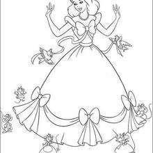 Dibujos Para Colorear Los Amigos De La Cenicienta Eshellokidscom