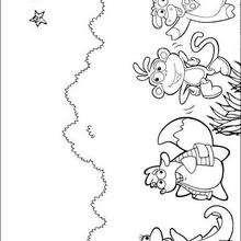 Los amigos de Dora - Dibujos para Colorear y Pintar - Dibujos para colorear PERSONAJES - PERSONAJES TV para colorear - Dora y sus amigos para colorear
