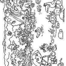 Los animales - Dibujos para Colorear y Pintar - Dibujos para colorear PERSONAJES - PERSONAJES TV para colorear - Dora y sus amigos para colorear