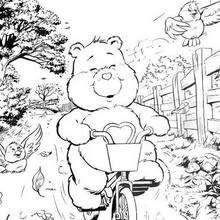 Dibujo para colorear : Amorosita en bici