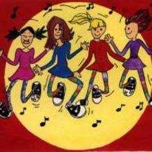 Ilustración : Las amigas bailando
