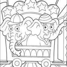 Dibujo para colorear : Los elefantes