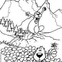 Las marmotas - Dibujos para Colorear y Pintar - Dibujos infantiles para colorear - Colorear las 4 temporadas