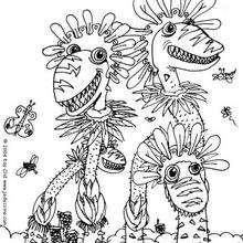 Dibujo para colorear : Monstruo cactus