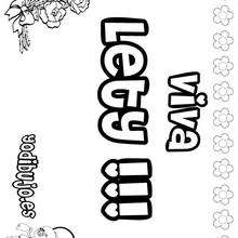 LETY colorear nombres niñas - Dibujos para Colorear y Pintar - Dibujos para colorear NOMBRES - Dibujos para colorear NOMBRES NIÑAS