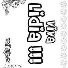 LIDIA colorear nombres niñas - Dibujos para Colorear y Pintar - Dibujos para colorear NOMBRES - Dibujos para colorear NOMBRES NIÑAS