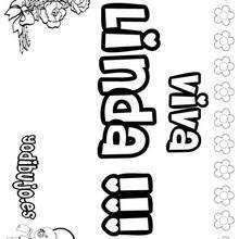 LINDA colorear nombres niñas - Dibujos para Colorear y Pintar - Dibujos para colorear NOMBRES - Dibujos para colorear NOMBRES NIÑAS