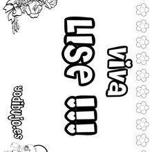 LISE colorear nombres niñas - Dibujos para Colorear y Pintar - Dibujos para colorear NOMBRES - Dibujos para colorear NOMBRES NIÑAS