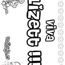 LIZETT colorear nombres niñas - Dibujos para Colorear y Pintar - Dibujos para colorear NOMBRES - Dibujos para colorear NOMBRES NIÑAS