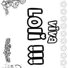 LOLI colorear nombres niñas - Dibujos para Colorear y Pintar - Dibujos para colorear NOMBRES - Dibujos para colorear NOMBRES NIÑAS