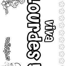 LOURDES colorear nombres niñas - Dibujos para Colorear y Pintar - Dibujos para colorear NOMBRES - Dibujos para colorear NOMBRES NIÑAS