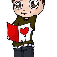 Dibujos san valentin ENAMORADO - Dibujar Dibujos - Dibujos infantiles para IMPRIMIR - Dibujos de SAN VALENTIN para imprimir