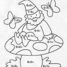 pintar un diablillo - Juegos divertidos - Juegos para IMPRIMIR - Juegos de PINTAR - Los personajes: dibujos mágicos