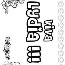 LYDIA colorear nombres niñas - Dibujos para Colorear y Pintar - Dibujos para colorear NOMBRES - Dibujos para colorear NOMBRES NIÑAS