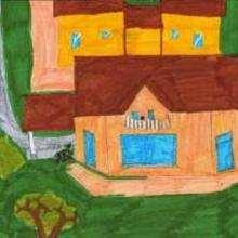 La casa de mis abuelos - Dibujar Dibujos - Imagenes para niños - Imagenes del MUNDO - En Europa