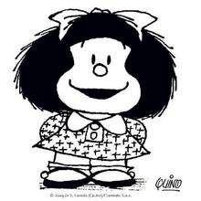 Dibujo de Mafalda seria - Dibujos para Colorear y Pintar - Dibujos para colorear PERSONAJES - PERSONAJES COMIC para colorear - Dibujos para colorear MAFALDA