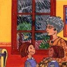Abuela con sus nietos - Dibujar Dibujos - IMAGENES infantiles - Imagenes infantiles para ver e imprimir - Los niños