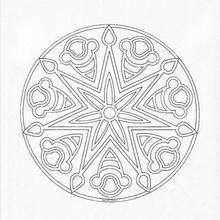 Mandala Gotas y estrellas - Dibujos para Colorear y Pintar - Dibujos para colorear MANDALAS - Dibujos de MANDALA ESTRELLA para colorear