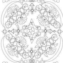 Mandala paraiso - Dibujos para Colorear y Pintar - Dibujos para colorear MANDALAS - Dibujos para colorear MANDALAS para jovenes