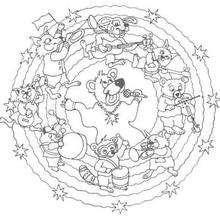 Mandala Animalitos músicos - Dibujos para Colorear y Pintar - Dibujos para colorear MANDALAS - Dibujos de MANDALAS DE ANIMALES para colorear