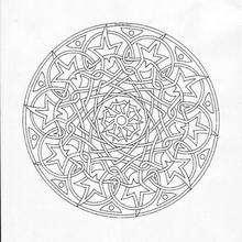 Dibujo para colorear : Rosetón celta