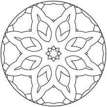 Mandala Flores y estrellas - Dibujos para Colorear y Pintar - Dibujos para colorear MANDALAS - MANDALAS DE FLORES para colorear