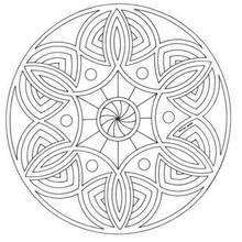 Dibujo para colorear : Mandala Ilusión óptica