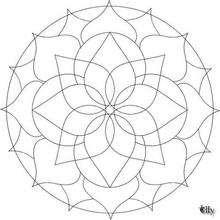 Dibujo para colorear : Mandala Hermoso rosetón