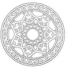 Mandala Estrella celta - Dibujos para Colorear y Pintar - Dibujos para colorear MANDALAS - Dibujos de MANDALA ESTRELLA para colorear