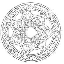 Dibujo para colorear : Mandala Estrella celta