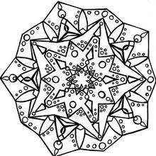 Dibujo para colorear : Mandala Estrella joya