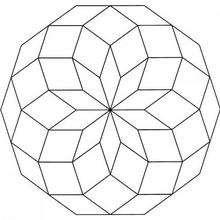 Dibujo para colorear : Mandala Geometría