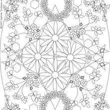 Mandala flores y coronas