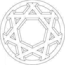 Mandala Estrella geométrica - Dibujos para Colorear y Pintar - Dibujos para colorear MANDALAS - Dibujos de MANDALA ESTRELLA para colorear