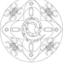Mandala serpiente - Dibujos para Colorear y Pintar - Dibujos para colorear MANDALAS - Dibujos de MANDALAS DE ANIMALES para colorear