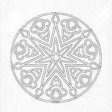 Mandala Símbolos celtas - Dibujos para Colorear y Pintar - Dibujos para colorear MANDALAS - Dibujos de MANDALAS INFANTILES para colorear