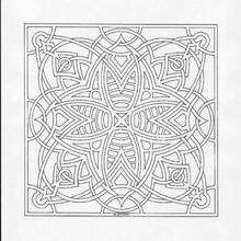 Dibujo para colorear : Mandala Tela de araña