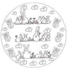 Mandala conejitos - Dibujos para Colorear y Pintar - Dibujos para colorear MANDALAS - Dibujos de MANDALAS DE ANIMALES para colorear